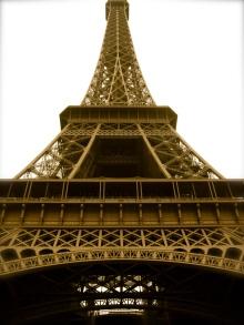 Beneath the Eiffel Tower, France
